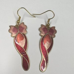 Vintage Cloisonne Earrings